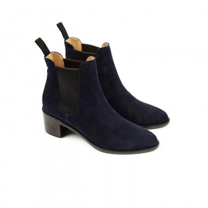 ALLURE Navy Blue Cachemire Cuir P