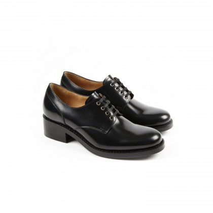 BILLIE Windsor Noir Double Cuir