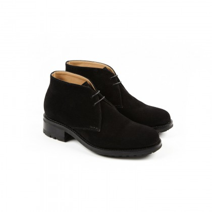 DAKOTA Black Velours Cuir