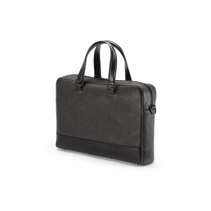 BRIEFCASE Black Anilcalf/Beluga