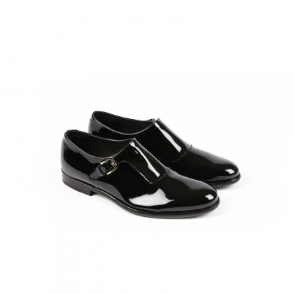 MANHATTAN Black Vernis Cuir P