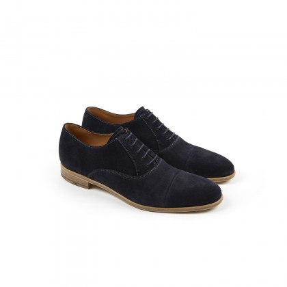 LOTUS Velours Navy Cuir