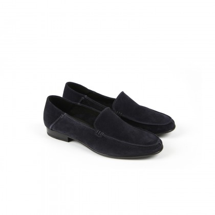 ISCHIA FE Navy Hydrovelours Cuir P
